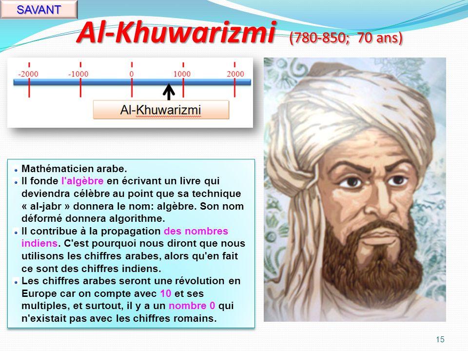 Mahomet (570-632; 62 ans) 14 RELIGION Prophète arabe.