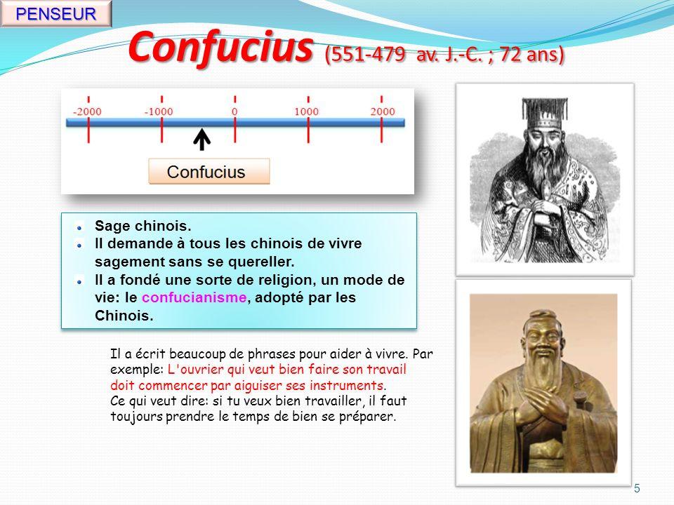 Moïse (vers 1400 av. J.-C. ) 4 RELIGION Chef des Juifs, né en Égypte.