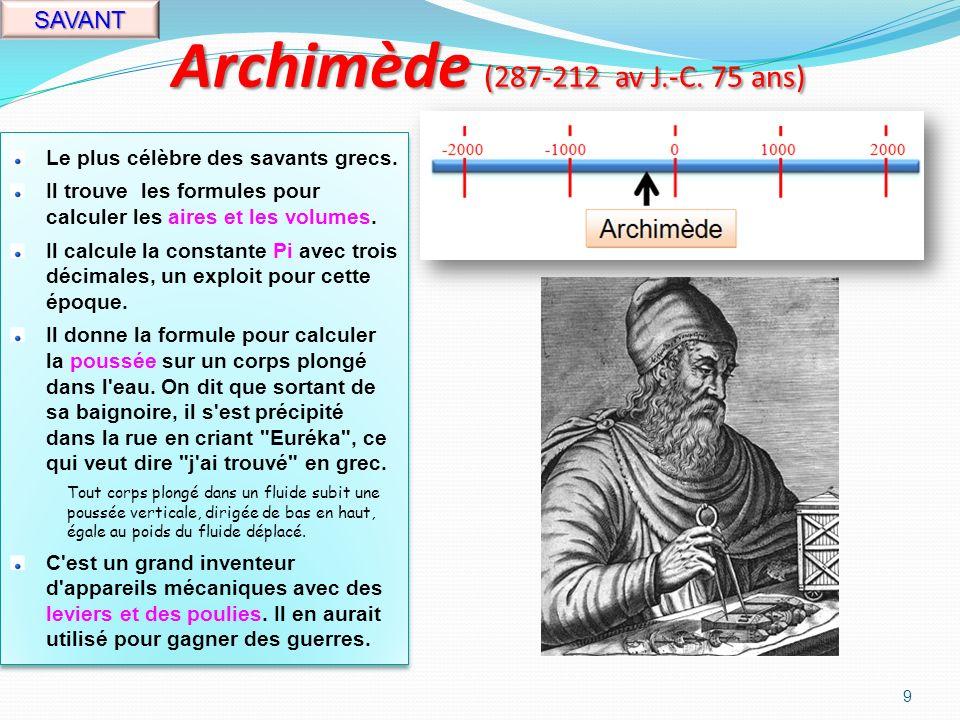 Aristote (384-322 av J.-C. 62 ans) PENSEUR Philosophe et savant grec.