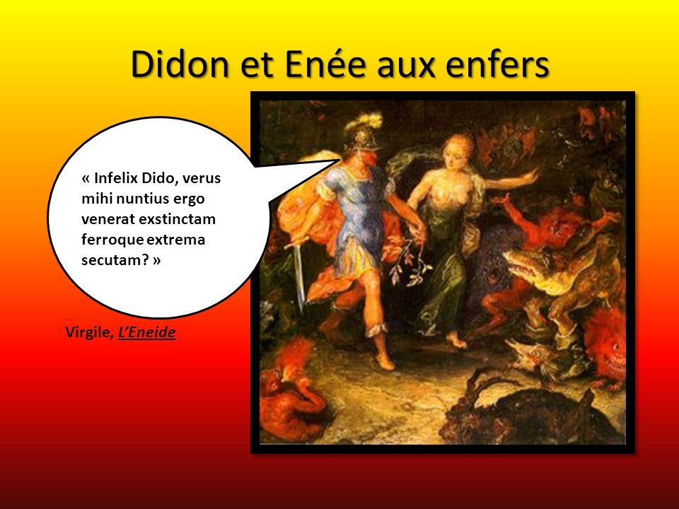 Enée rencontre Didon aux Enfers « Inter quas Phoenissa recens a vulnere Dido Errabat silva in magna » LEneide, Virgile Énée et Didon aux Enfers de Wenceslaus Hollar gravure XVIIème