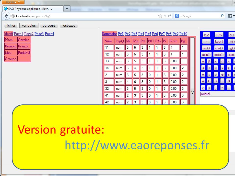 Version gratuite: http://www.eaoreponses.fr