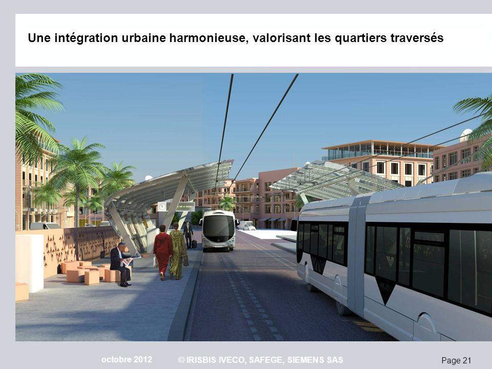 Page 21 octobre 2012 © IRISBIS IVECO, SAFEGE, SIEMENS SAS Une intégration urbaine harmonieuse, valorisant les quartiers traversés