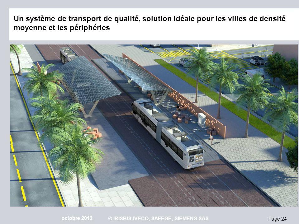 Page 24 octobre 2012 © IRISBIS IVECO, SAFEGE, SIEMENS SAS Un système de transport de qualité, solution idéale pour les villes de densité moyenne et le