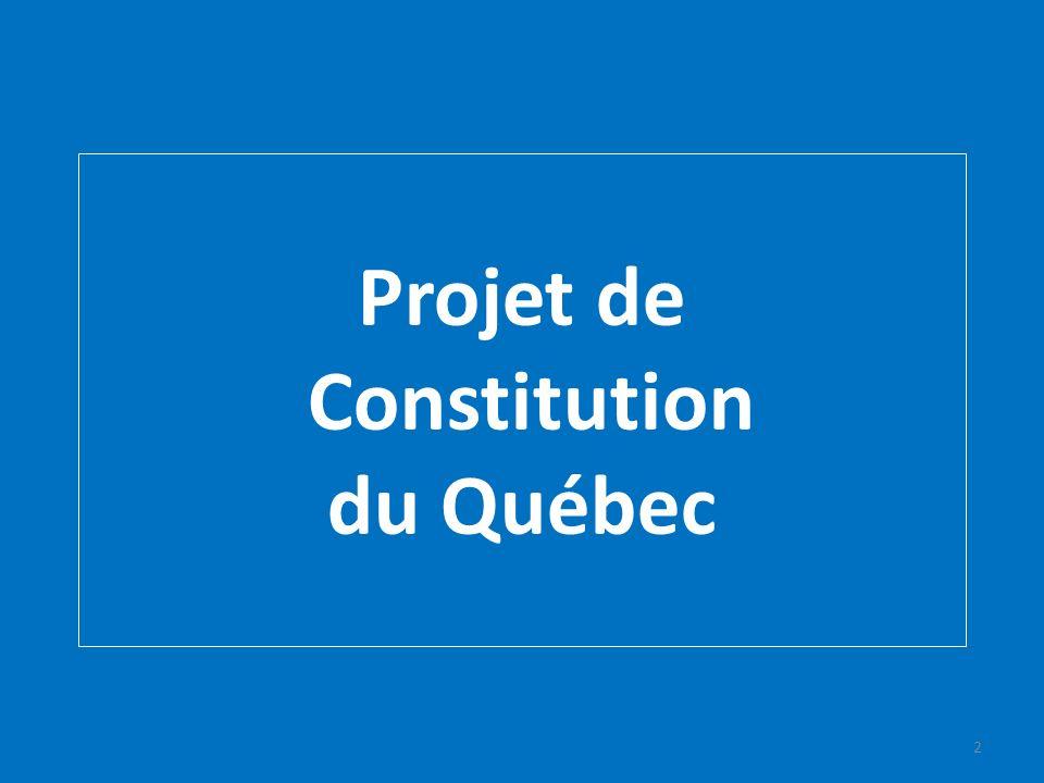 Projet de Constitution du Québec 2