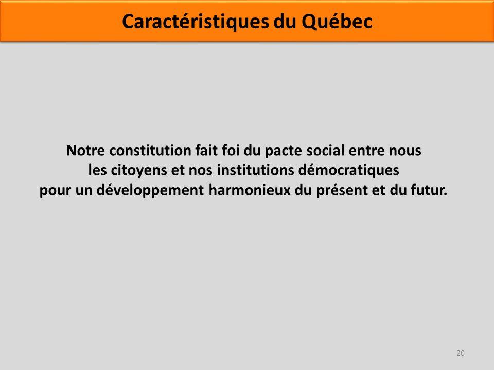 Notre constitution fait foi du pacte social entre nous les citoyens et nos institutions démocratiques pour un développement harmonieux du présent et d