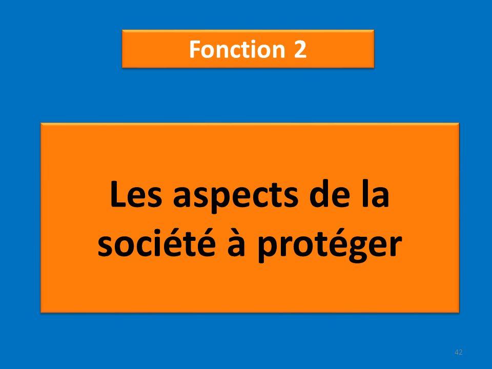 Les aspects de la société à protéger Fonction 2 42