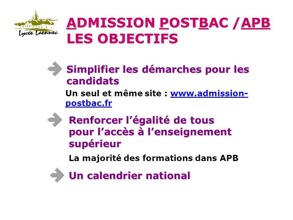 Linscription seffectue dans létablissement daccueil : le portail APB ne gère pas les inscriptions adminsitratives.