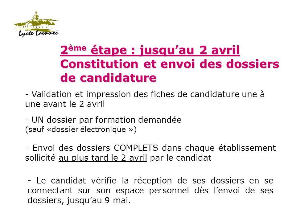 3 ème étape : Phases dadmission 1ère phase : lundi 23 juin 14h 2ème phase : vendredi 4 juillet 14h 3ème phase : lundi 14 juillet Attention : 4 jours maximum pour répondre Le candidat consulte son dossier.