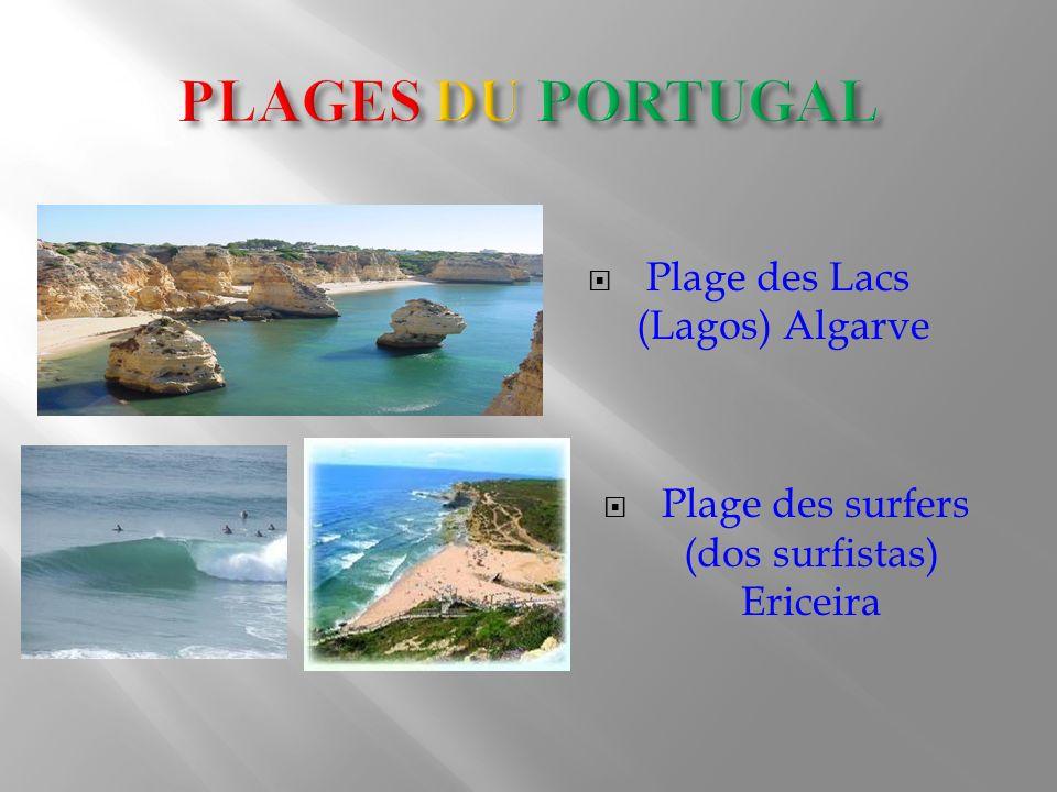Plage des Lacs (Lagos) Algarve Plage des surfers (dos surfistas) Ericeira