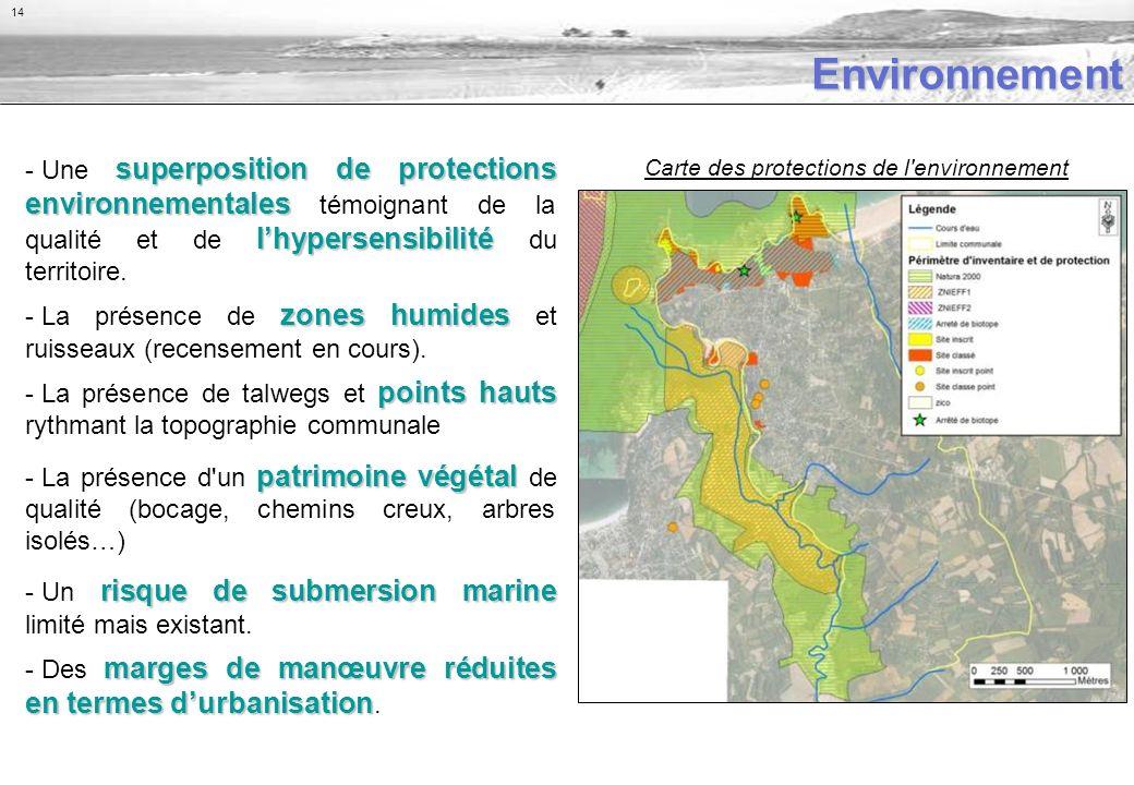 Environnement superposition de protections environnementales lhypersensibilité - Une superposition de protections environnementales témoignant de la qualité et de lhypersensibilité du territoire.