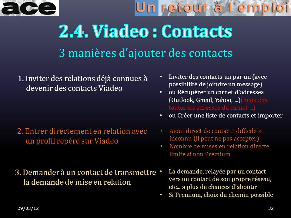 3 manières d ajouter des contacts 29/03/1232 1.