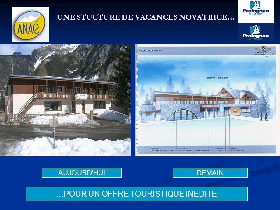 UNE STUCTURE DE VACANCES NOVATRICE… AUJOURDHUIDEMAIN …POUR UN OFFRE TOURISTIQUE INEDITE