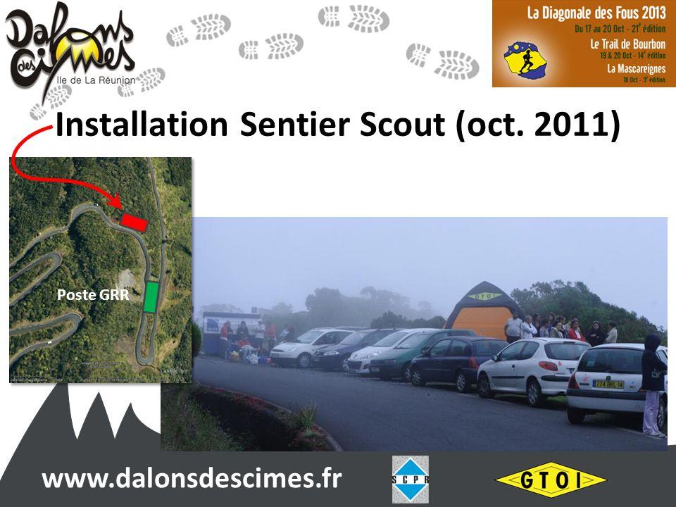 www.dalonsdescimes.fr Installation Sentier Scout (oct. 2011) Poste GRR