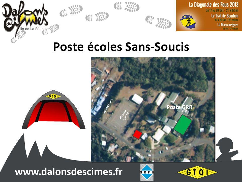 www.dalonsdescimes.fr Poste écoles Sans-Soucis Poste GRR Dans lécole Poste GRR Boulodrome Plateau sportif