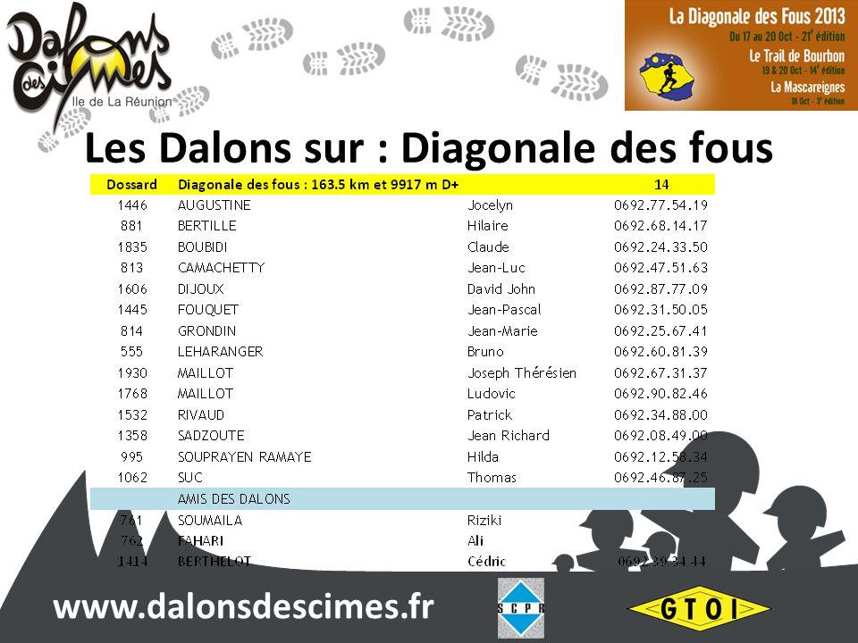 www.dalonsdescimes.fr Les Dalons sur : Diagonale des fous