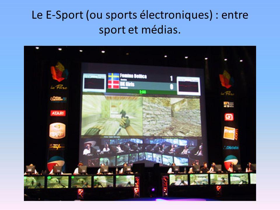 Le E-Sport (ou sports électroniques) : entre sport et médias.
