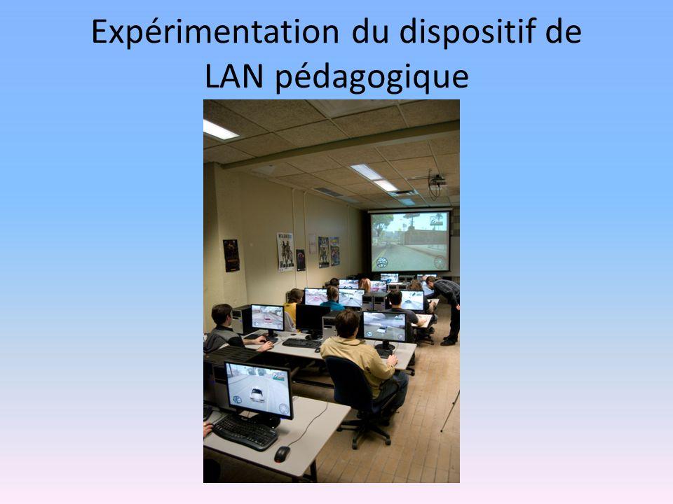 Expérimentation du dispositif de LAN pédagogique