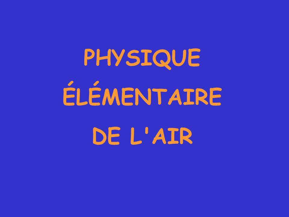 PHYSIQUE ÉLÉMENTAIRE DE L AIR