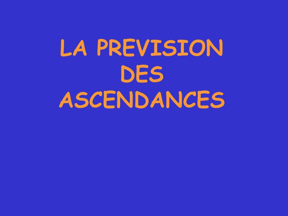 LA PREVISION DES ASCENDANCES