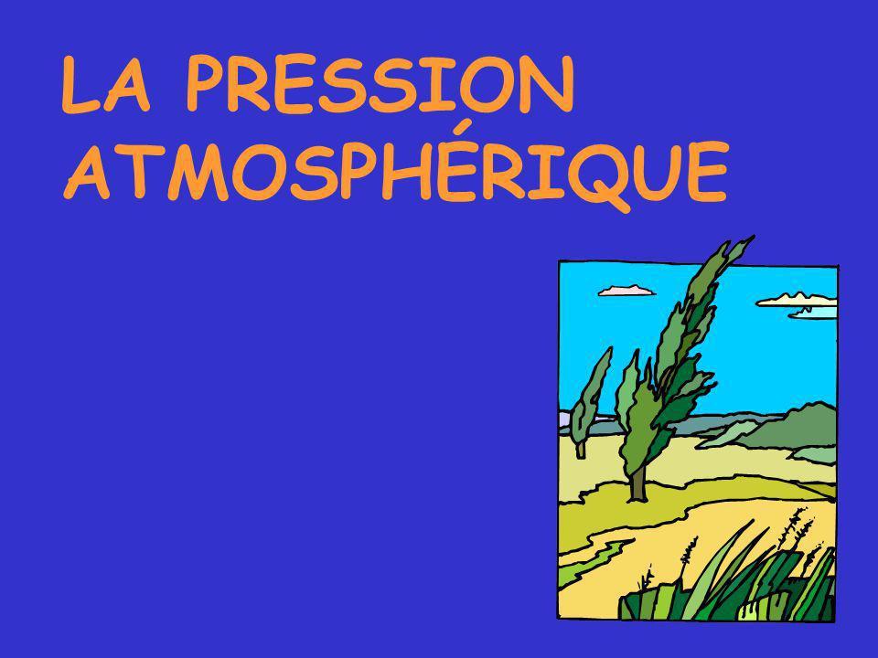 LA PRESSION ATMOSPHÉRIQUE