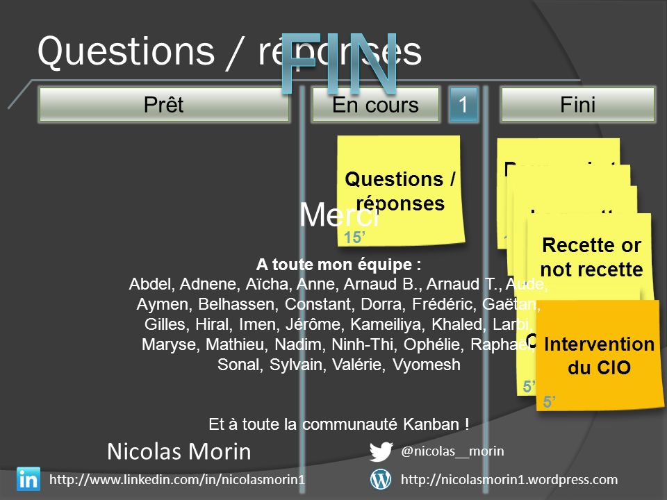 Questions / réponses PrêtEn cours Fini 1 Pourquoi et comment Kanban .