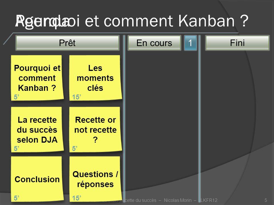 Pourquoi et comment Kanban .