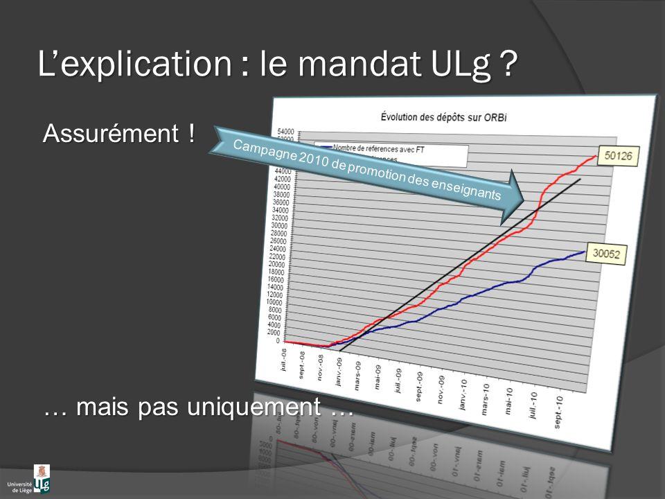 Lexplication : le mandat ULg . Assurément .