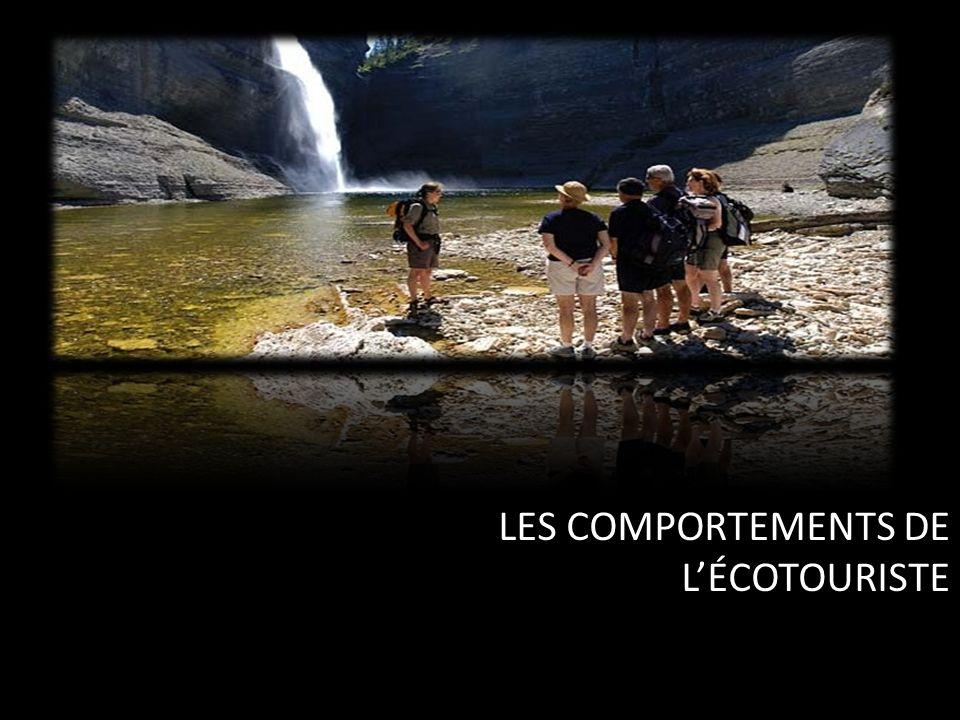 LES COMPORTEMENTS DE LÉCOTOURISTE