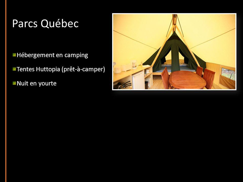 Parcs Québec Hébergement en camping Tentes Huttopia (prêt-à-camper) Nuit en yourte