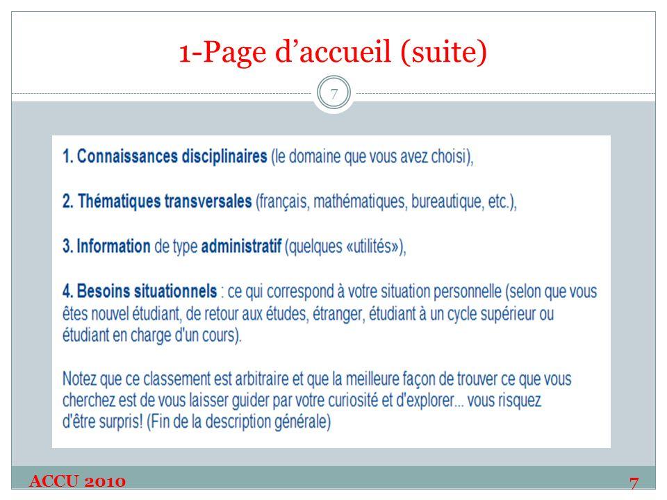 1-Page daccueil (suite) ACCU 20107 7