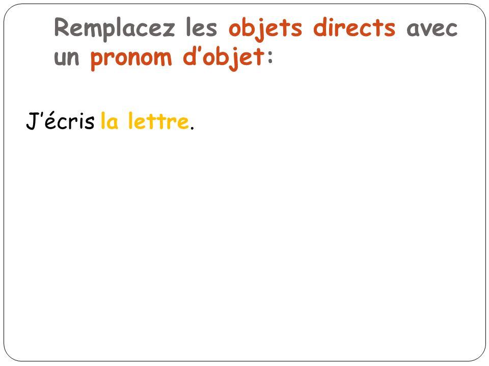 ENTRAINEMENT!!.Comprenez-vous les Pronoms dObjet Indirects??.