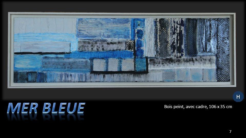 Bois peint, avec cadre, 106 x 35 cm 7 H H