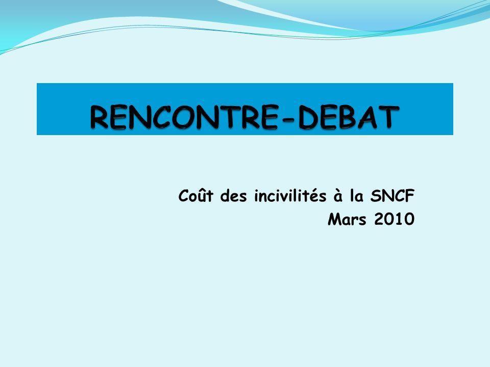 Coût des incivilités à la SNCF Mars 2010