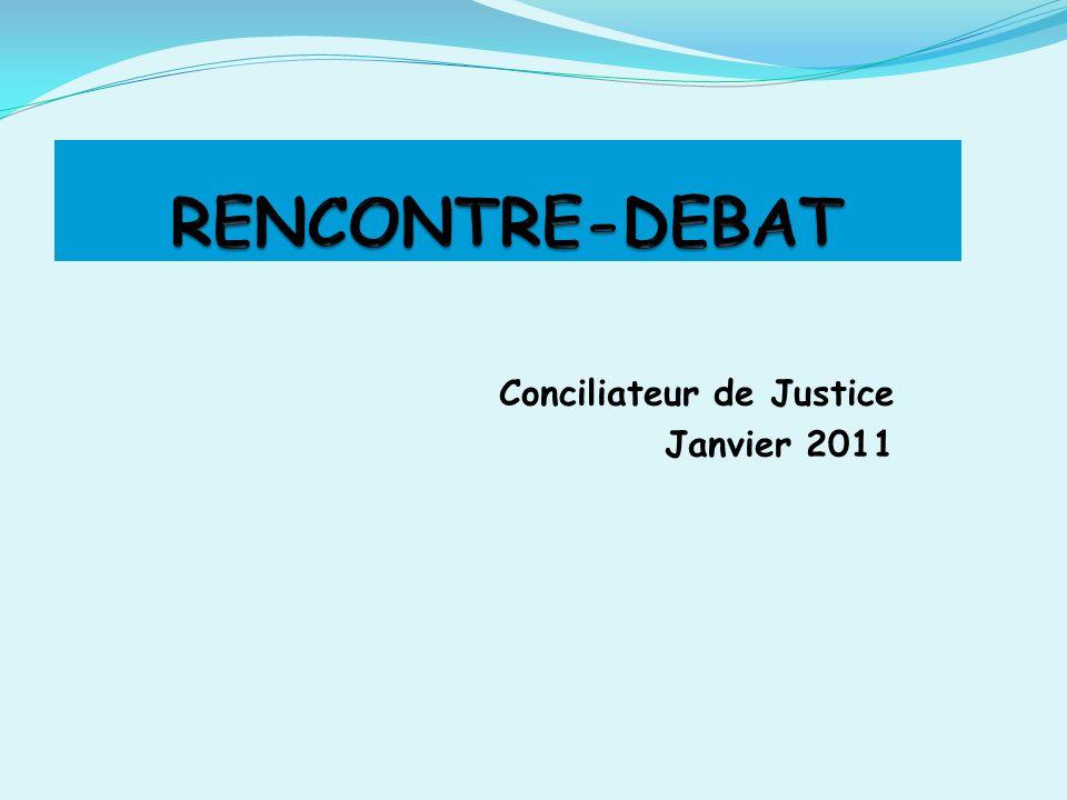 Conciliateur de Justice Janvier 2011