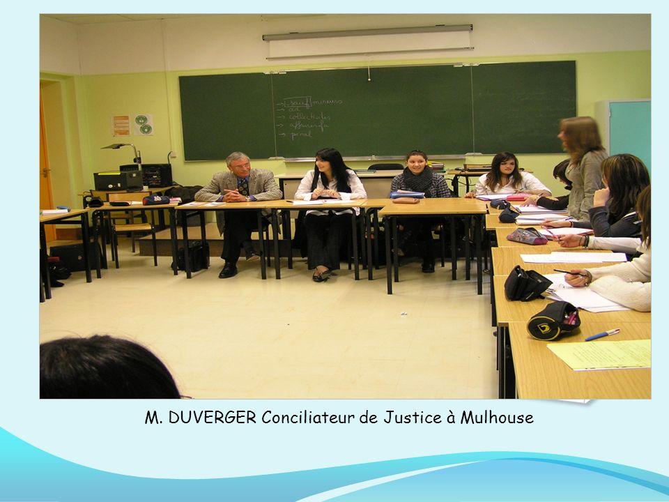 M. DUVERGER Conciliateur de Justice à Mulhouse