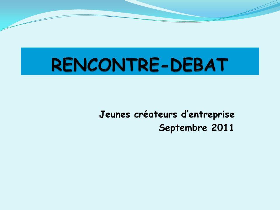 Jeunes créateurs dentreprise Septembre 2011