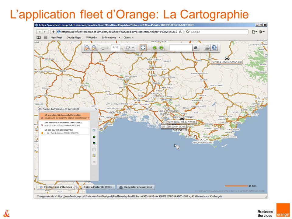 Lapplication fleet dOrange: La Cartographie