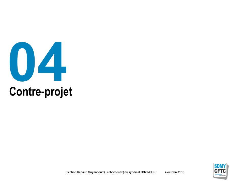 Section Renault Guyancourt (Technocentre) du syndicat SDMY-CFTC 4 octobre 2013 Contre-projet 04