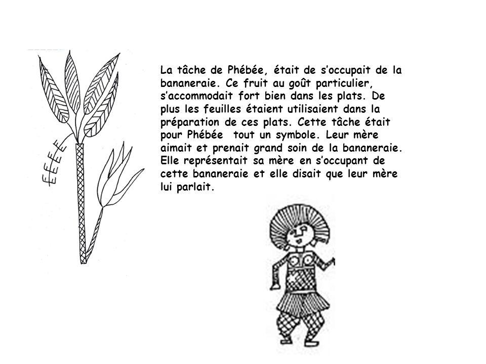 La tâche de Phébée, était de soccupait de la bananeraie.