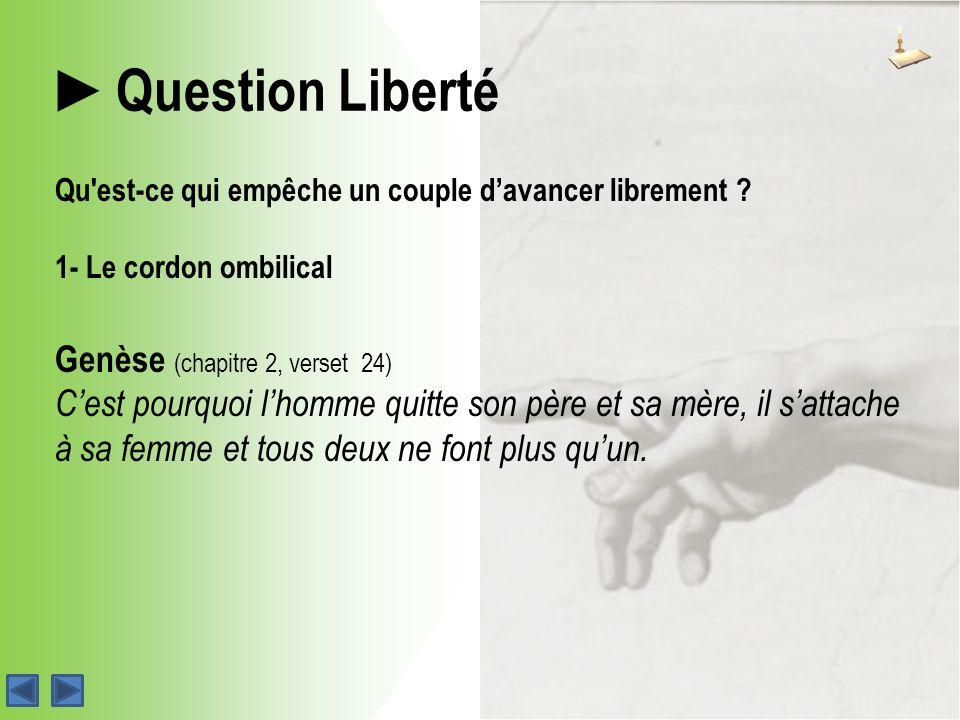 Question Liberté Qu est-ce qui empêche un couple davancer librement .