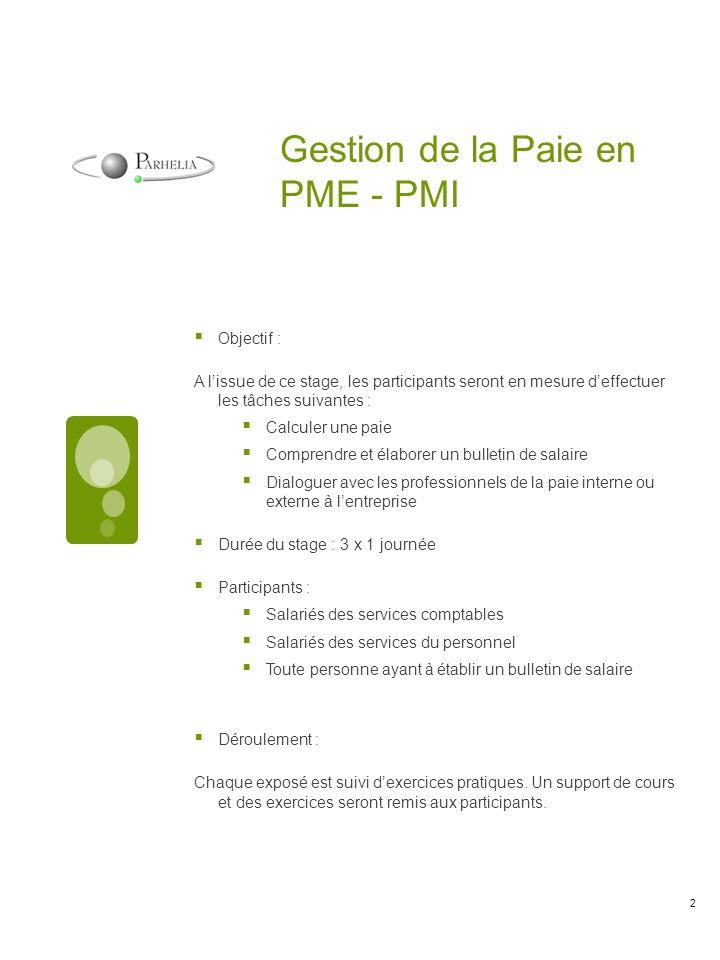 Programme : Introduction : Le bulletin de salaire : définition, fonction, valeur juridique.