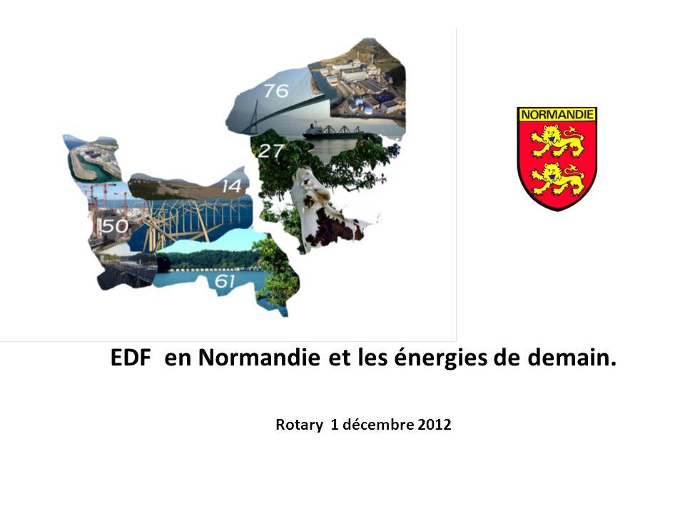 EDF en Normandie et les énergies de demain. Rotary 1 décembre 2012