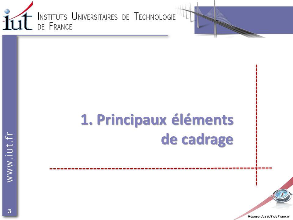 Réseau des IUT de France 3 1. Principaux éléments de cadrage