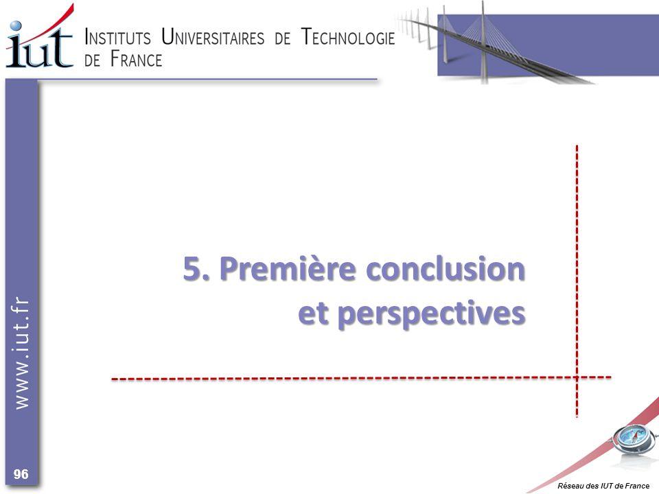 Réseau des IUT de France 96 5. Première conclusion et perspectives et perspectives