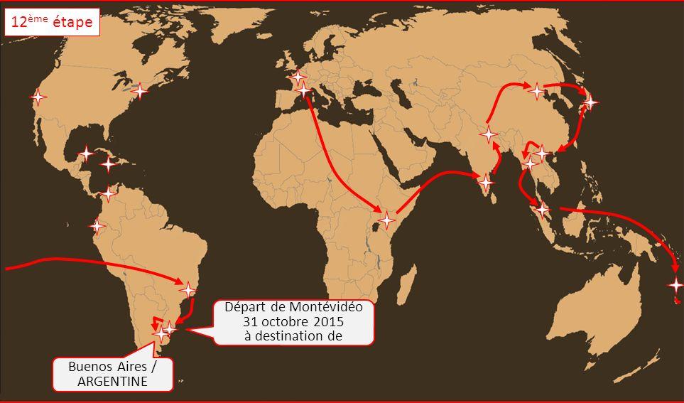 Buenos Aires / ARGENTINE Départ de Montévidéo 31 octobre 2015 à destination de 12 ème étape