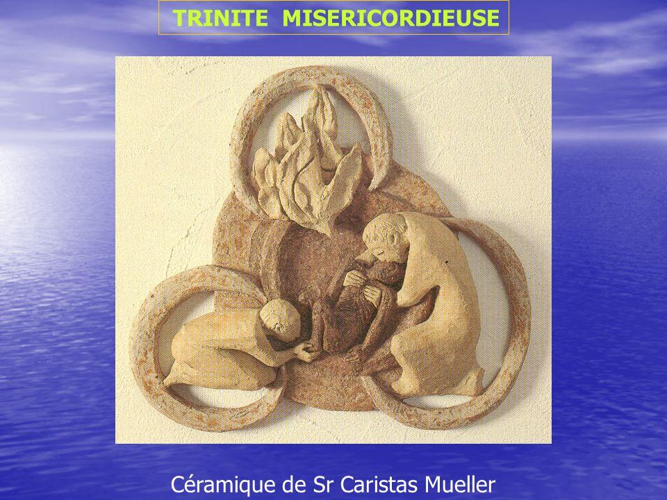TRINITE MISERICORDIEUSE Céramique de Sr Caristas Mueller