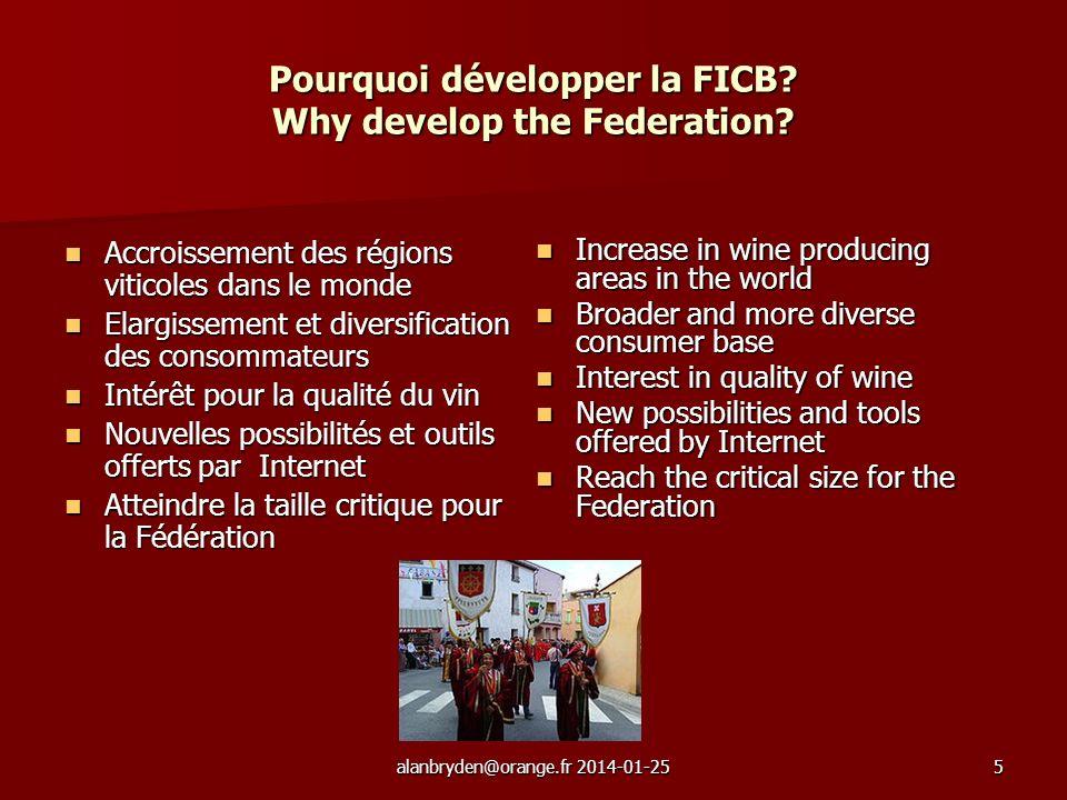 alanbryden@orange.fr 2014-01-255 Pourquoi développer la FICB.