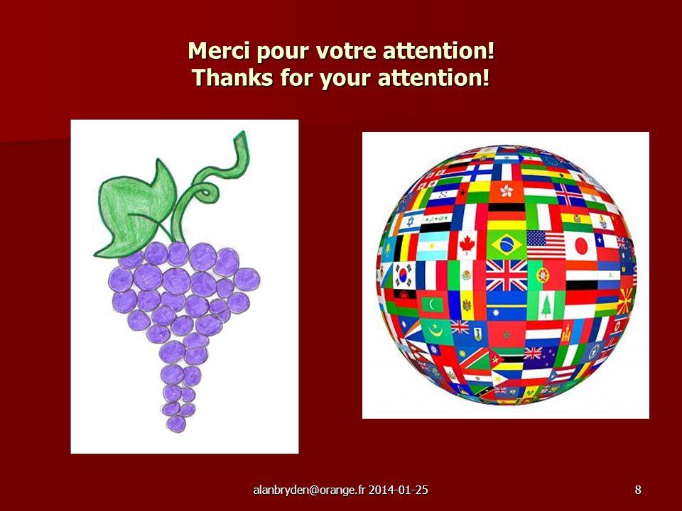 8 Merci pour votre attention! Thanks for your attention!