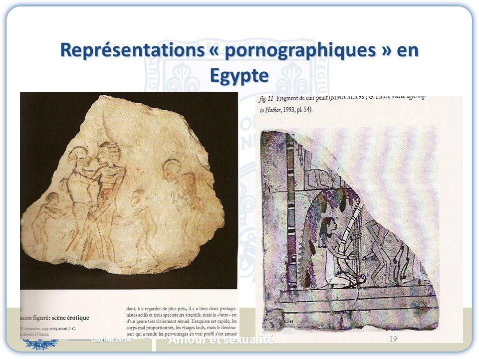 Représentations « pornographiques » en Egypte 20/04/2014 19 Amour et sexualité