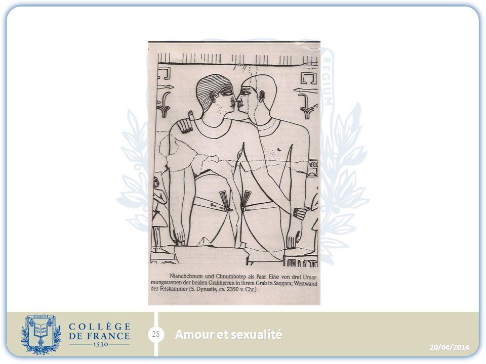 20/04/2014 28 Amour et sexualité